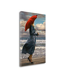 Red Umbrella by Paul Kelley Giclee Print on Gallery Wrap Canvas