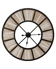 "Stratton Home Decor Oversized 31.50"" Farmhouse Jackson Wall Clock"