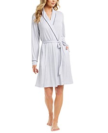 Piping-Trim Wrap Robe, Created for Macy's