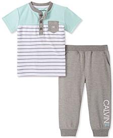 Baby Boys 2-Pc. Henley T-Shirt & Jogger Pants Set