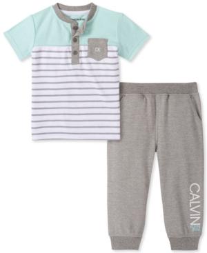Calvin Klein Baby Boys 2-Pc. Henley T-Shirt & Jogger Pants Set
