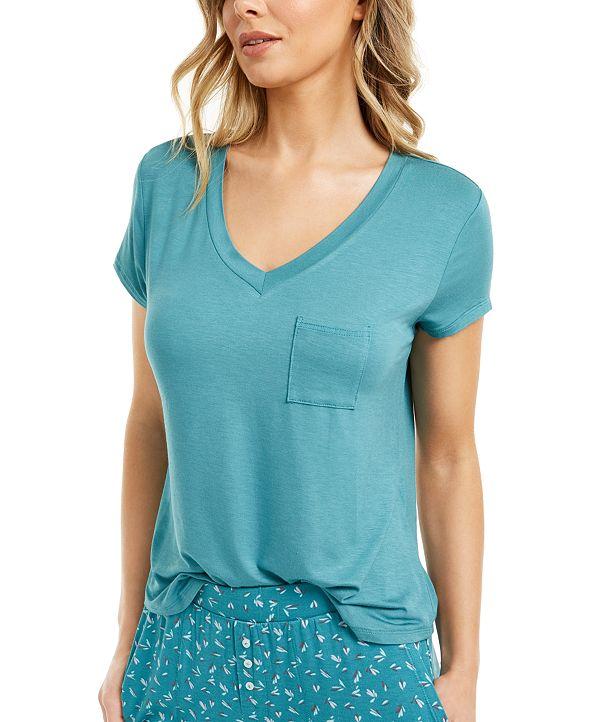 Alfani Ultra-Soft Knit Pajama Top, Created for Macy's