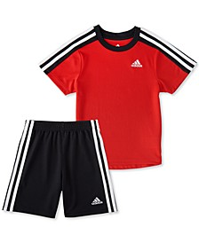 Little Boys 2-Pc. Soccer T-Shirt & Shorts Set