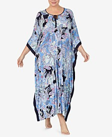 Plus Size Paisley Knit Caftan, Online Only