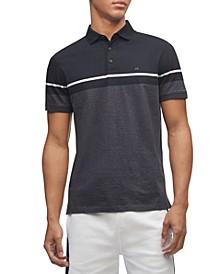 Men's Liquid Touch Colorblock Stripe Polo Shirt