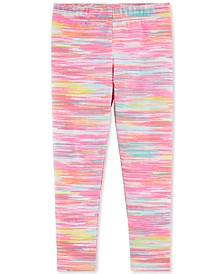 Little & Big Girls Pink Abstract-Print Leggings