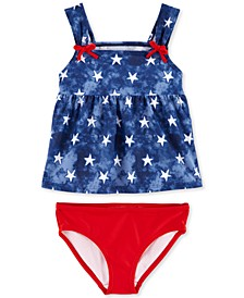 Baby Girls 2-Pc. Red, White & Blue Swimsuit