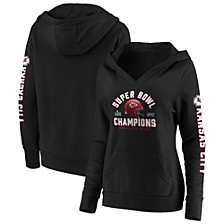 Women's Kansas City Chiefs Super Bowl LIV Champ Lateral Sleeve Hoodie