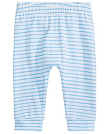 Baby Boys Striped Cotton Jogger Pants, Created For Macy's
