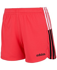 Toddler Girls Clashing Stripe Mesh Shorts