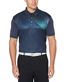 Men's Big & Tall Asymmetrical-Stripe Polo