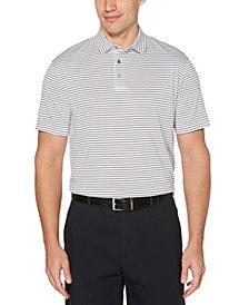 PGA TOUR Men's Big & Tall Feeder-Stripe Golf Polo