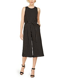 Polka-Dot Cropped Jumpsuit