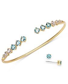 Cubic Zirconia Bangle Bracelet & Stud Earrings Set, Created for Macy's