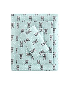 Cozy Flannel Twin Cotton Printed Sheet Set