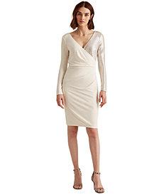Lauren Ralph Lauren Two-Tone Metallic Dress
