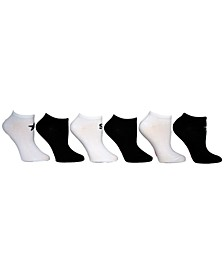 Women's 6-Pk. Solid With Star & Logo Low-Cut Socks