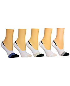 Women's 5-Pk. Colorblocked Foot Liner Socks