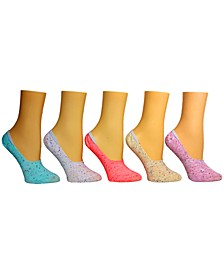 Women's 5-Pk. Speckle Yarn Foot Liner Socks