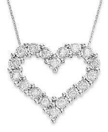 TruMiracle® Diamond Heart Pendant in 10k White Gold (1/2 ct. t.w.)