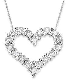 TruMiracle® Diamond Heart Pendant in 10k White Gold (1/2 ct. t.w.)