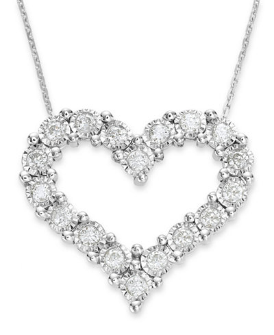 Trumiracle diamond heart pendant in 10k white gold 12 ct tw trumiracle diamond heart pendant in 10k white gold 12 ct tw aloadofball Choice Image