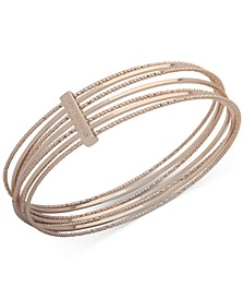 Gold-Tone Multi-Row Cuff Bracelet
