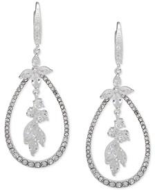 Crystal Flower Orbital Drop Earrings