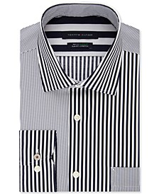 Men's Slim-Fit Multi-Stripe Dress Shirt