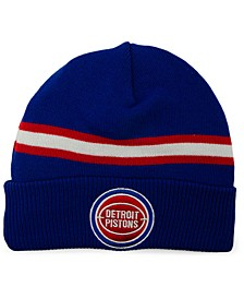 Detroit Pistons HWC Retro Stripe Knit Hat