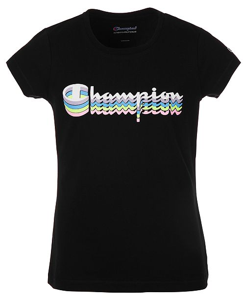Champion Big Girls Shadow Logo Script T-Shirt