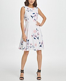 Sleeveless Soft Floral Fit & Flare Dress