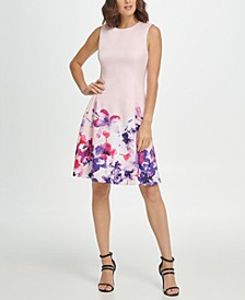 Sleeveless Floral Fit & Flare Dress