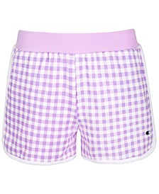Big Girls Gingham French Terry Shorts