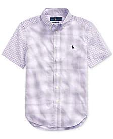 Big Boys Gingham Cotton Poplin Shirt