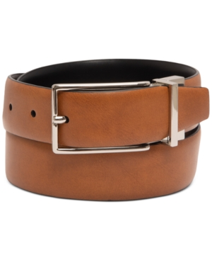 Men's Reversible Faux-Leather Belt