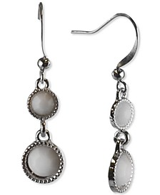 Silver-Tone Stone Double Drop Earrings, Created for Macy's