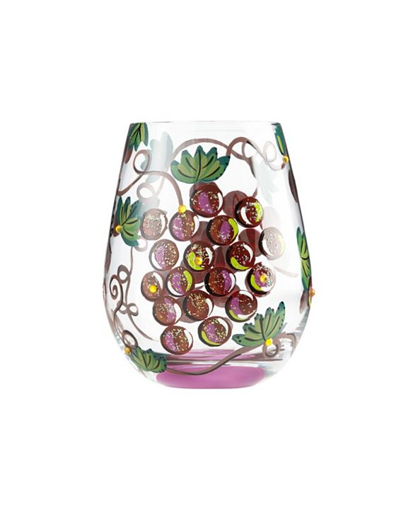 Enesco LOLITA It's Wine O'Clock Stemless Wine Glass