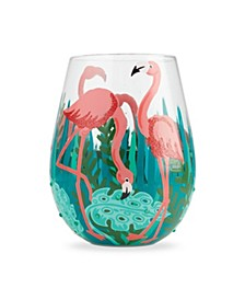 LOLITA Fancy Flamingo Stemless Wine Glass