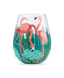 LOLITA Fancy Flamingo Stemless Wine Glass