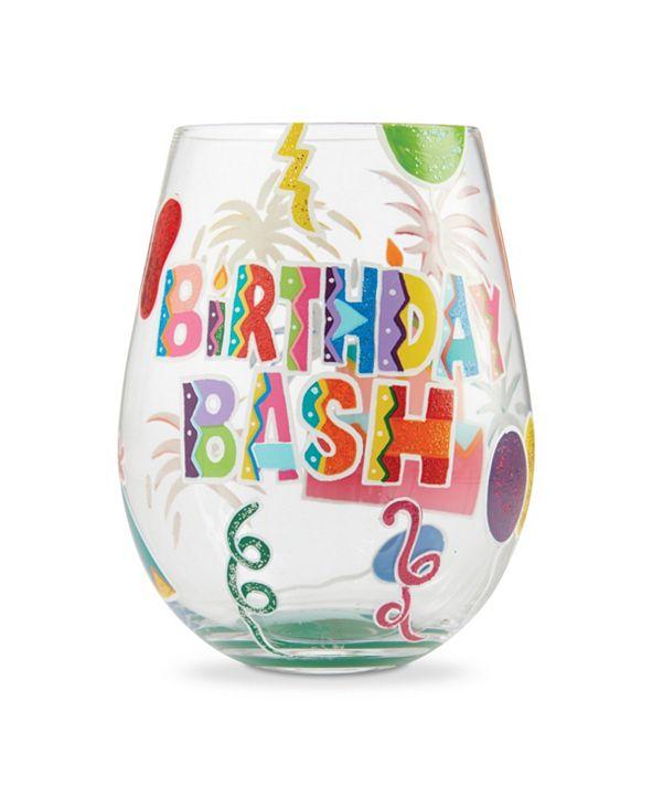 Enesco LOLITA Birthday Bash Stemless Wine Glass