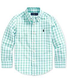 Toddler Boys Gingham Cotton-Blend Shirt