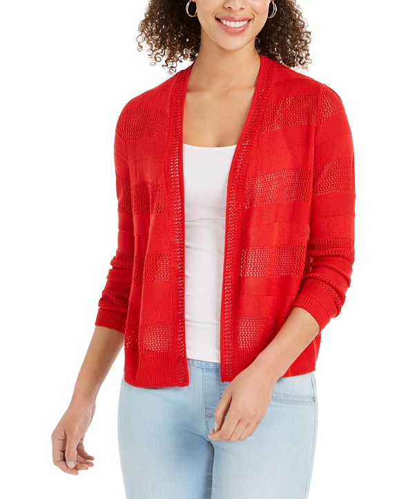 Charter Club Open-Front Cardigan, Created for Macy's