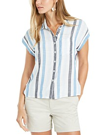 Striped Camp Shirt, Created for Macy's