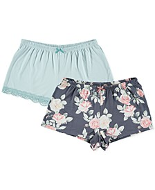 2pk Pajama Shorts