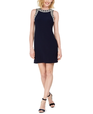Msk Beaded Sheath Dress