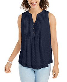 Pleated Clip-Dot Top, Created for Macy's