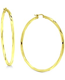 """Medium (2"""") Twisted Hoop Earrings in 18K Gold-Plated Sterling Silver, Created for Macy's"""