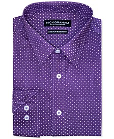 Men's Modern-Fit Pin-Dot Dress Shirt