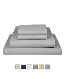 The Village 500 Thread Count Cotton California King Sheet 4-Piece Set, Fits Mattress Upto 17""